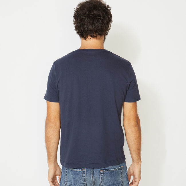 NAUTICA JEANS CO. GRAPHIC T-SHIRT,Navy,large