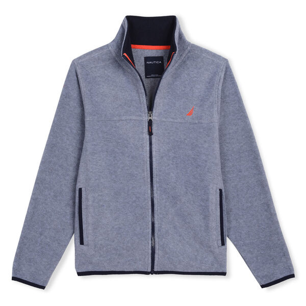 LITTLE BOYS' CHRIS NAUTEX FLEECE (4 - 7) - Gunmetal Grey