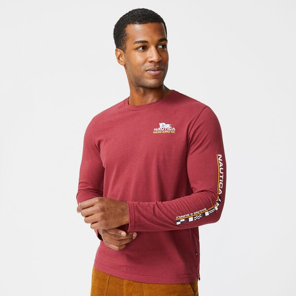 SUSTAINABLY CRAFTED GRAPHIC LONG SLEEVE T-SHIRT - Zinfandel