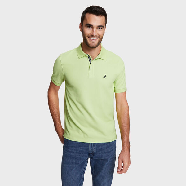 Classic Fit Solid Mesh Polo Shirt - Mint Spring
