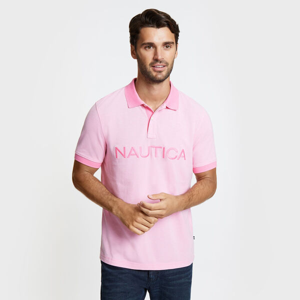 Kailua Short Sleeve Logo Classic Fit Polo - Petunia