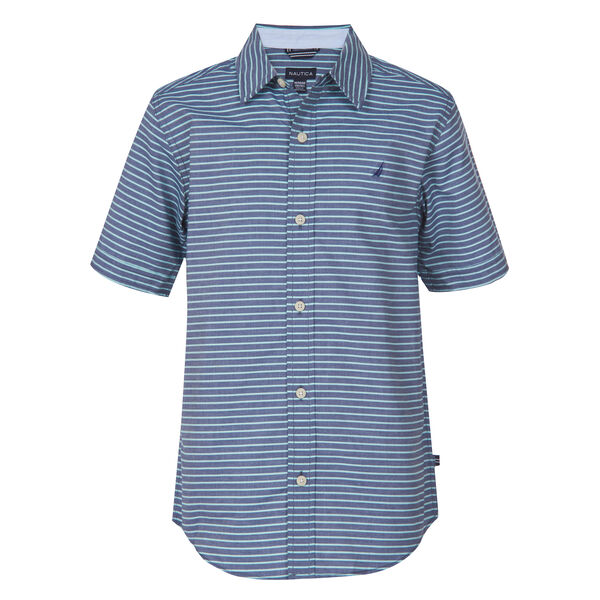 LITTLE BOYS' BRADFORD STRIPED SHIRT (4-7) - Pure Deep Sea Wash