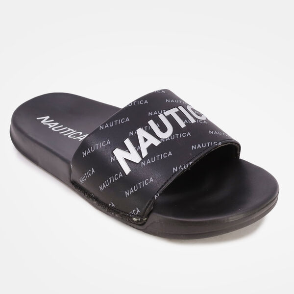 LOGO EMBELLISHED SLIDE SANDAL - Nautica Red