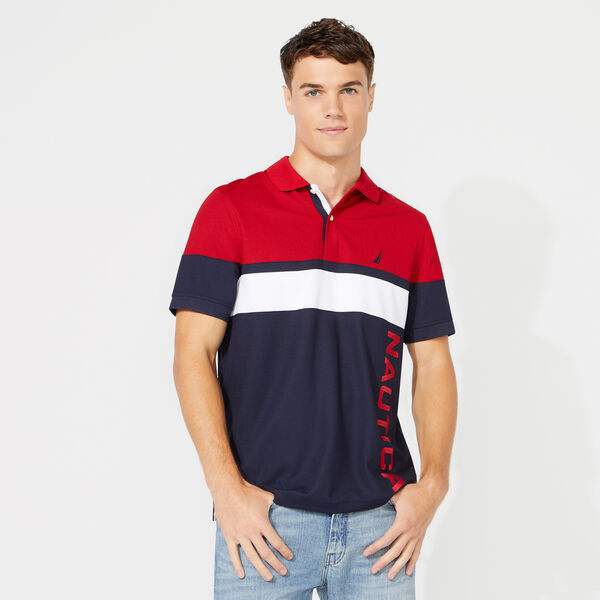 CLASSIC FIT COLORBLOCK POLO - Navy