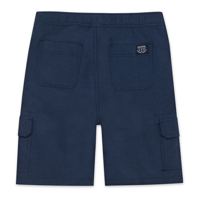 BOYS' EXPLORER PULL-ON CARGO SHORT (8-20),Sport Navy,large