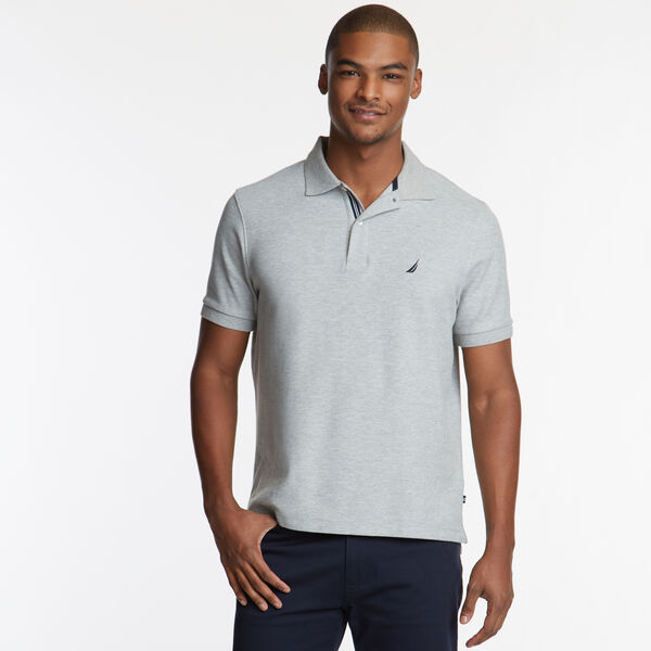 CLASSIC FIT PERFORMANCE DECK POLO - Grey Heather
