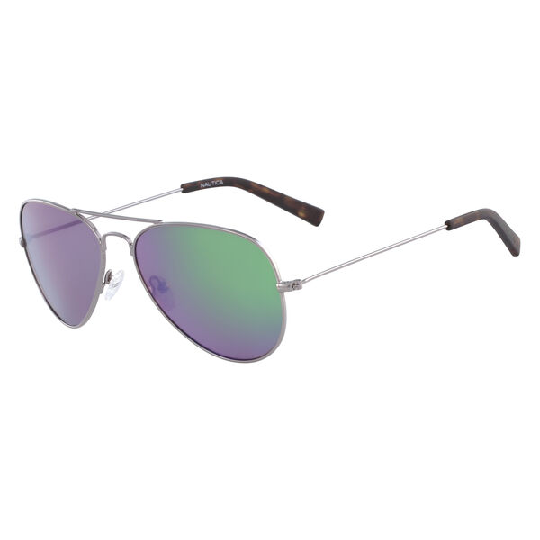 Aviator Sunglasses with Gunmetal Frame - Rust