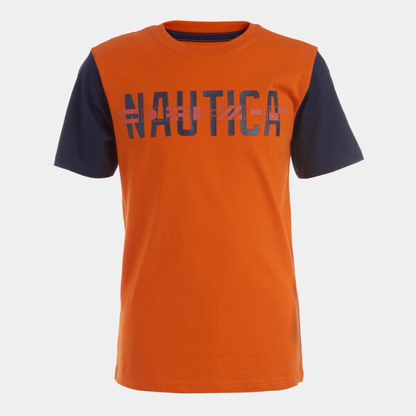 BOYS' COLORBLOCK SLEEVE GRAPHIC T-SHIRT (8-20) - Coral Resort