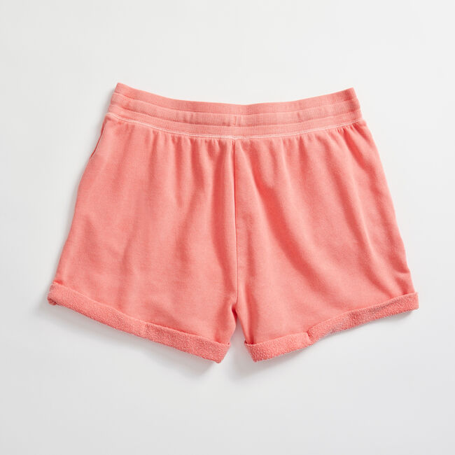 GARMENT DYED KNIT SHORT,Pale Coral,large