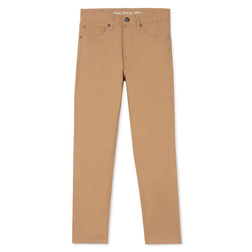 Boys' 5-Pocket Twill Pants (8-20) - Tavern