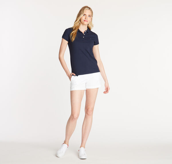Short Sleeve Classic Fit Anchor Polo - Stellar Blue Heather