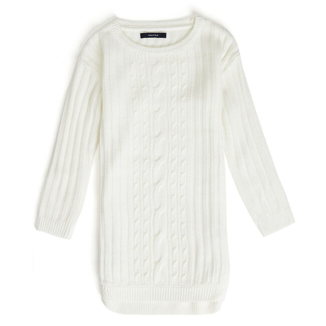 a906ac19a3a Girls  Long Sleeve Cable-Knit Sweater Dress (7-16)