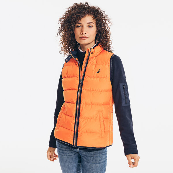 QUILTED LOGO PATCH TEMPASPHERE VEST - Pale Coral
