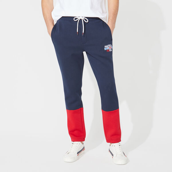 COLORBLOCK TRACK PANTS - Navy