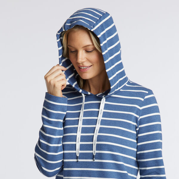 STRIPE HOODED PULLOVER - Cool Breeze