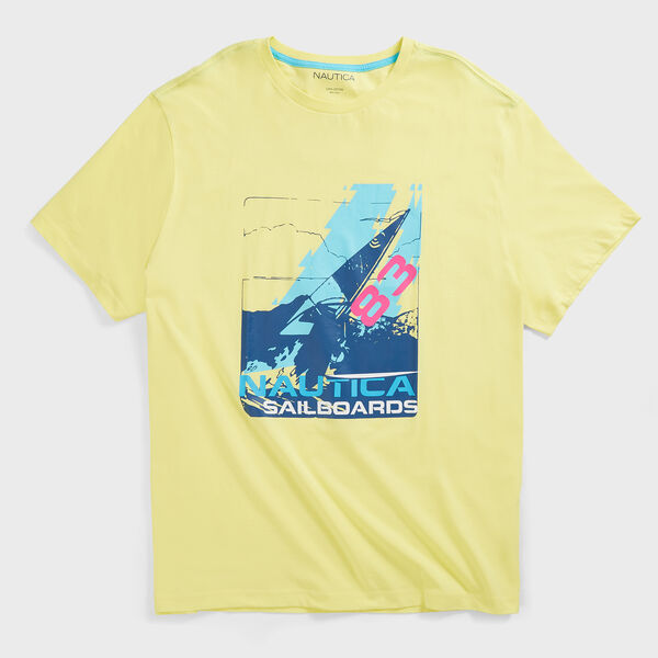 BIG & TALL SAILBOARD GRAPHIC T-SHIRT - Dusty Honey Gold