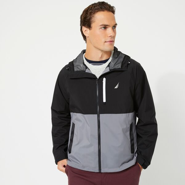 COLORBLOCK RAINBREAKER JACKET - Grey Shadow