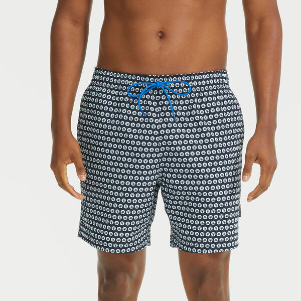 """6"""" SUSTAINABLY CRAFTED NAVTECH SHELL PRINT SWIM SHORT - Navy"""