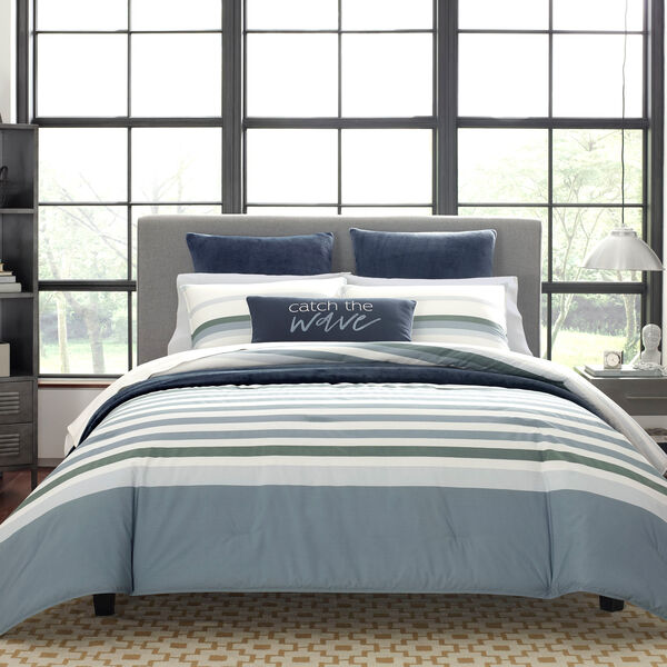LANSIER COMFORTER & SHAM SET IN GREY - Rolling River Wash