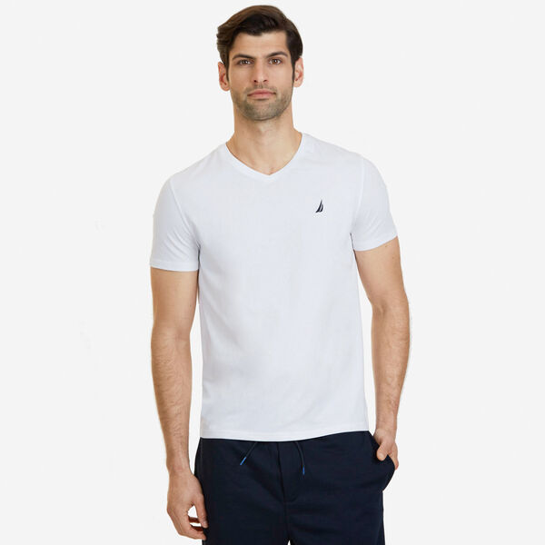 Slim Fit V-Neck T-Shirt - Bright White