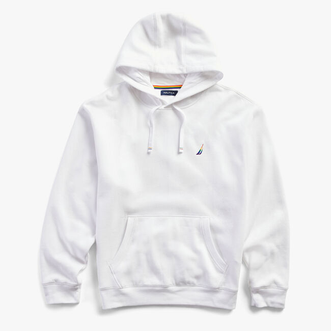 PRIDE GRAPHIC PULLOVER HOODIE,Bright White,large