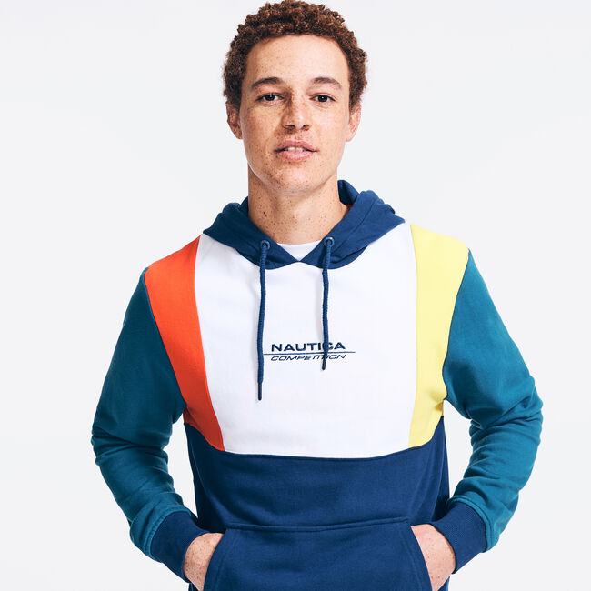 COMPETITION LOGO PULLOVER HOODIE,Navy,large