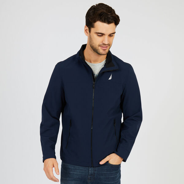 Water Resistant Active Stretch Jacket - Navy
