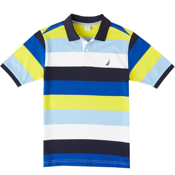 Boys' Colorblock Stripe Polo Shirt (8-16) - Firefly