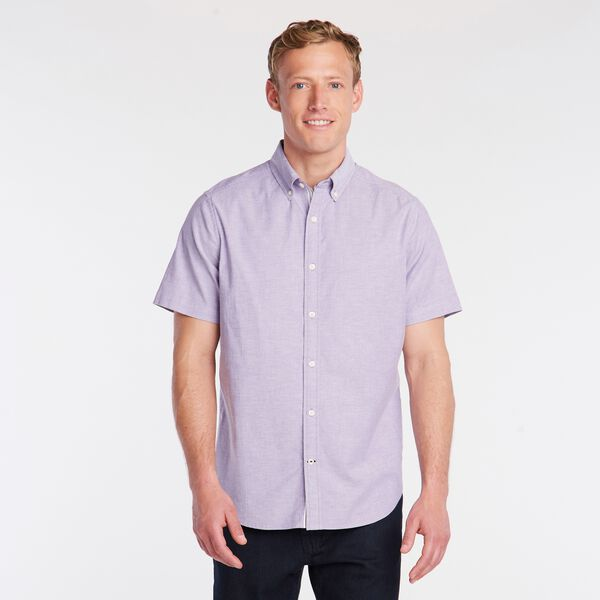 SHORT SLEEVE OXFORD SHIRT - Majestic Purple
