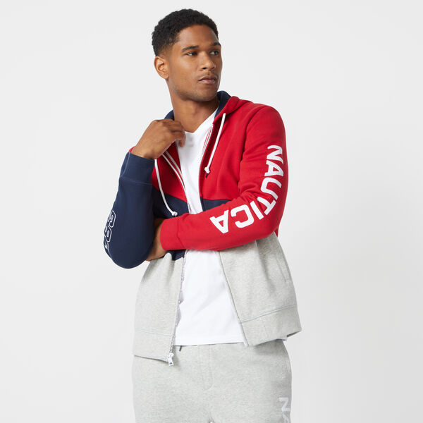 FULL-ZIP FLEECE HOODIE - Nautica Red
