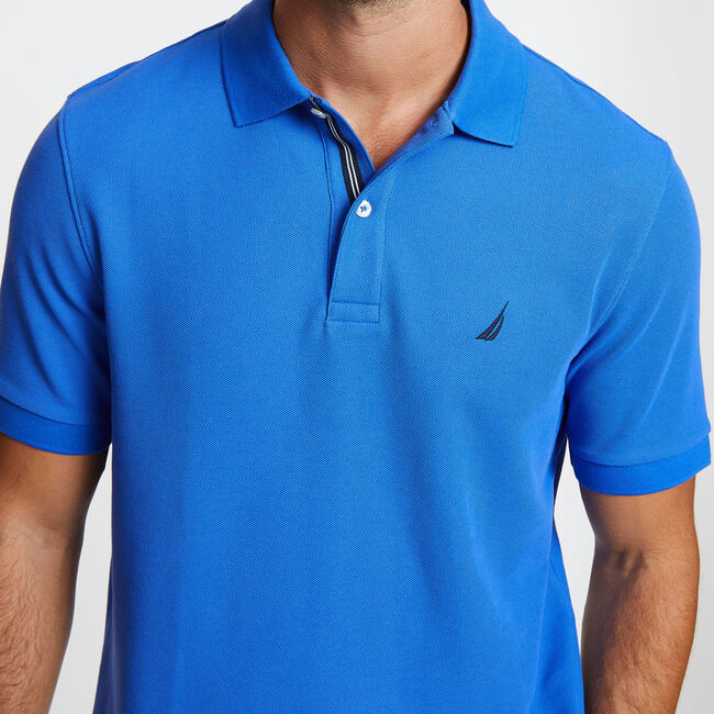 Solid Classic Fit Deck Polo Shirt,Cool Breeze,large