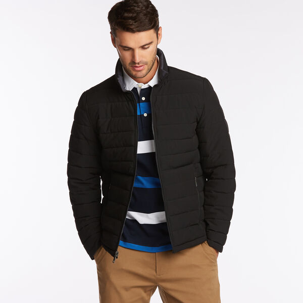 BIG & TALL STRETCH REVERSIBLE PUFFER - Black