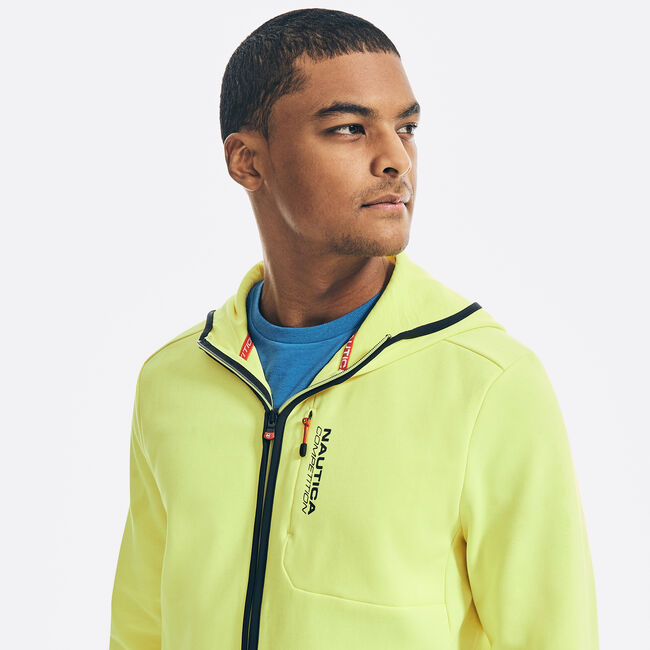 COMPETITION FULL-ZIP HOODIE,Blazing Yellow,large