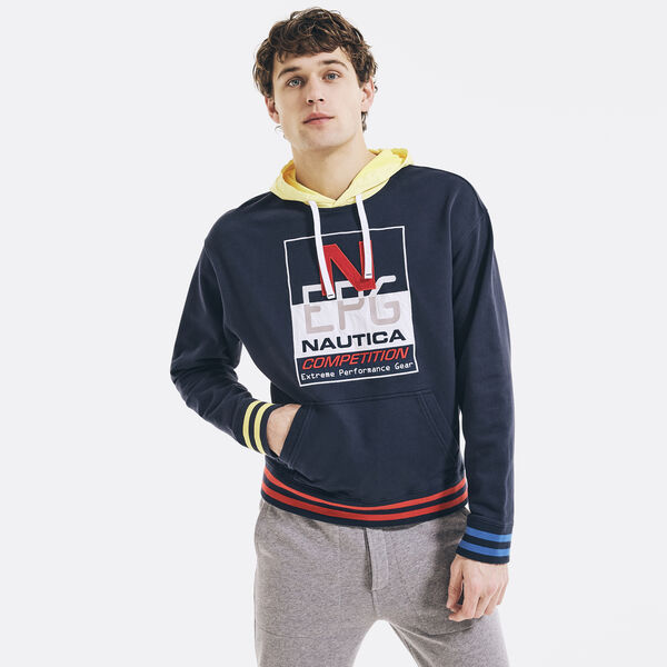 REISSUE GRAPHIC PULLOVER HOODIE - Navy