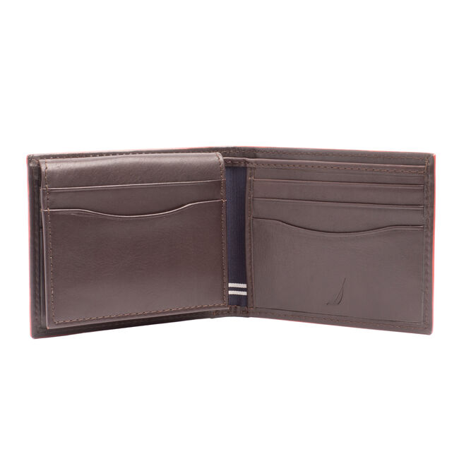 SMOOTH LEATHER PASSCASE,Brown Stone,large