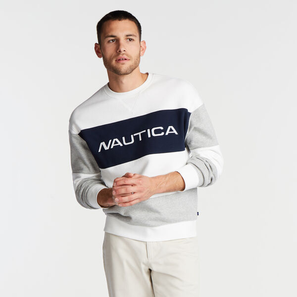 COLORBLOCK LOGO SWEATSHIRT - Sail White