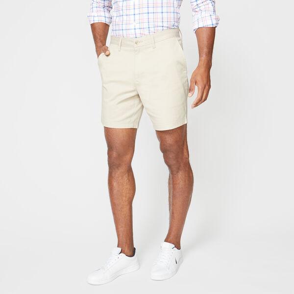 "6"" CLASSIC FIT DECK SHORTS WITH STRETCH - True Stone"