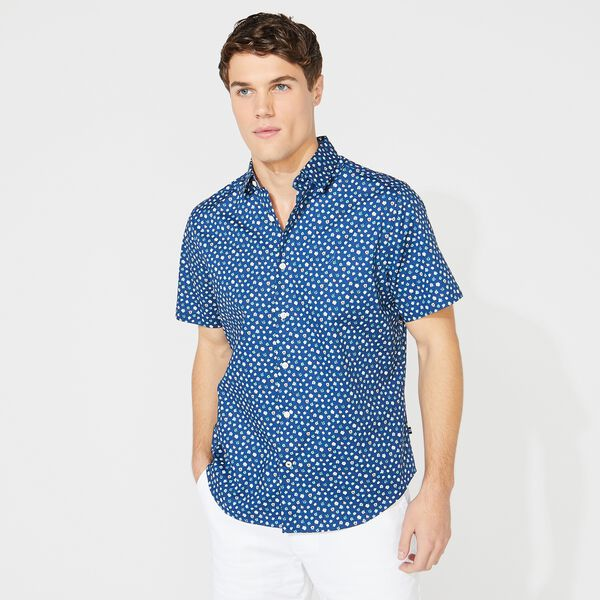 BIG & TALL CLASSIC FIT FLORAL PRINT SHIRT - Estate Blue