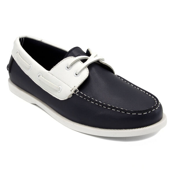 Nueltin Boat Shoes - Navy & White - Navy