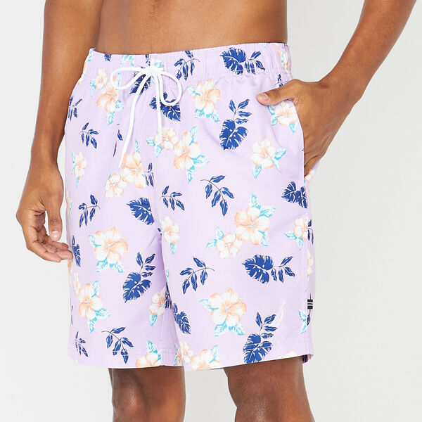 "8"" PERFORMANCE FLORAL PRINT SWIM TRUNKS - Lavendula"