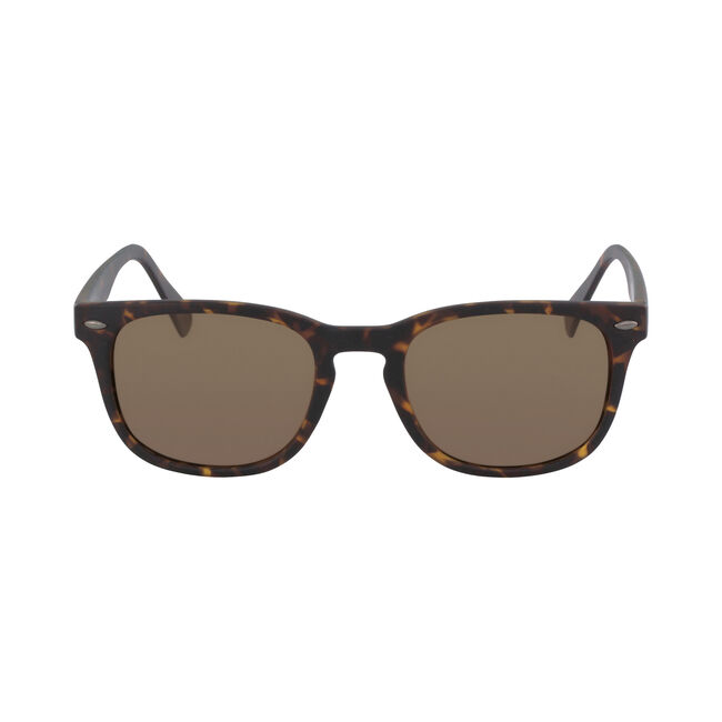 Squared Sunglasses with Matte Tortoise Frame,Cafe,large
