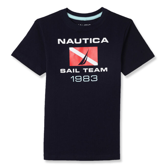 Toddler Boys' Sailing Team T-Shirt (2T-4T),Sport Navy,large