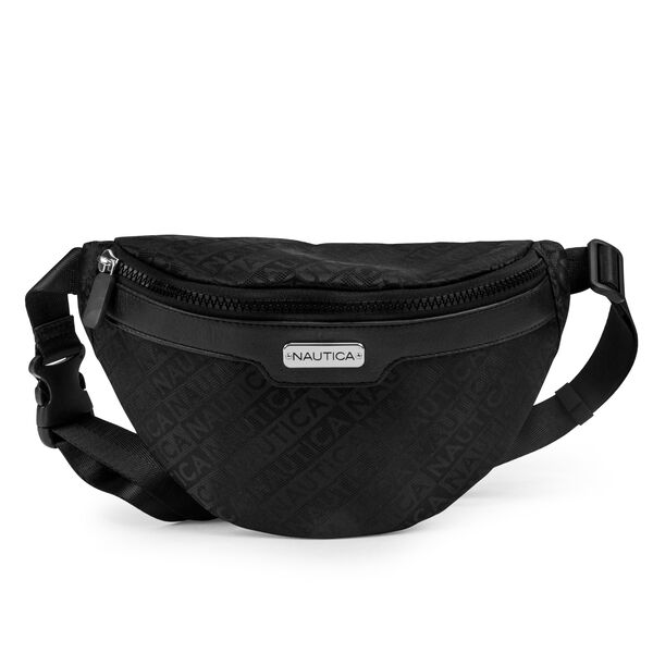 WOVEN JACQUARD BELT BAG - True Black