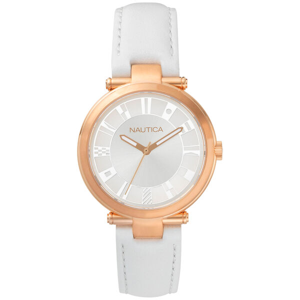 Flagstaff Leather Strap Watch - Bright White