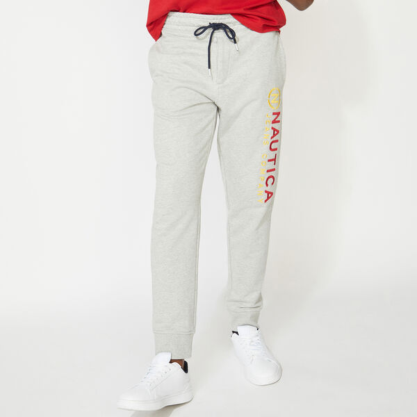 NAUTICA JEANS CO. LOGO JOGGER - Grey Heather