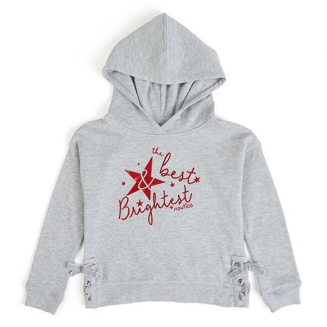 Girls' Best And Brightest Hoodie,Grey Heather,large