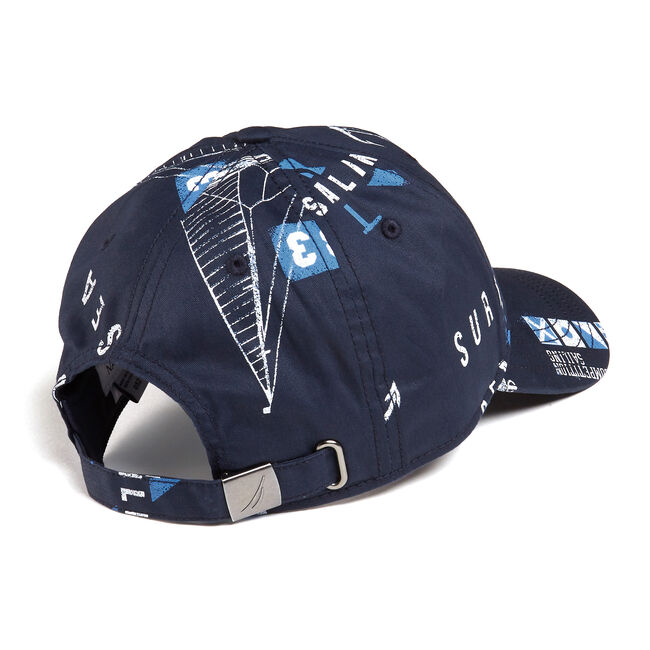 J-CLASS BASEBALL CAP IN GRAPHIC,Navy,large