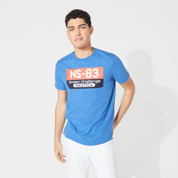 NS-83 OCEAN CHALLENGE GRAPHIC TEE - Windsurf Blue