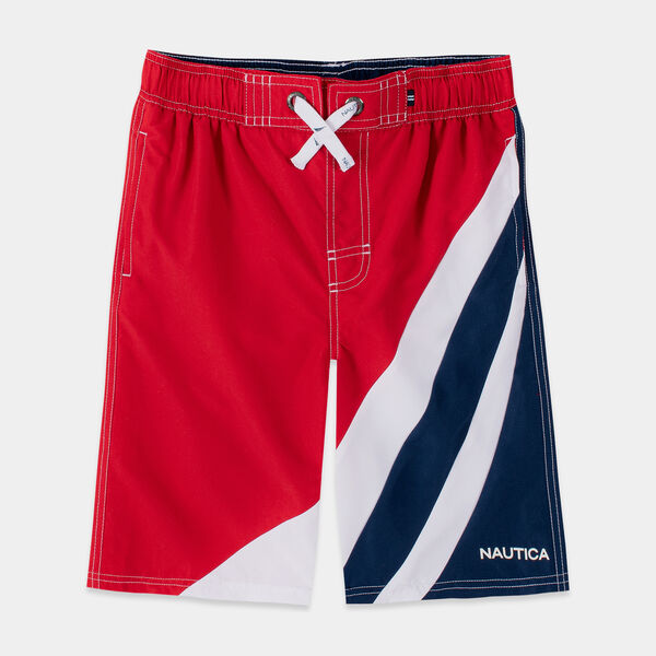 BOYS' MAKOA COLORBLOCK SWIM TRUNKS (8-20) - Melonberry