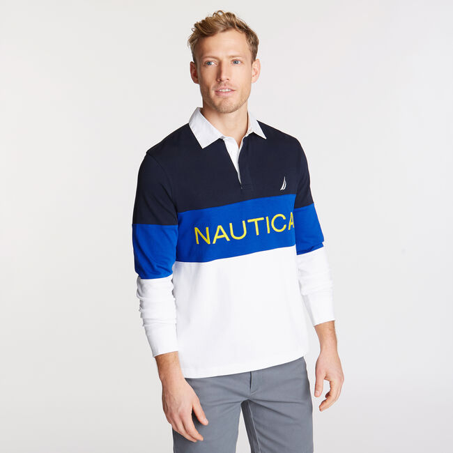 Long Sleeve Performance Polo,Pure Dark Pacific Wash,large